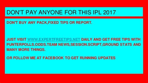 4 payments predictions for 2017 ipl 2017 predictions and betting tips