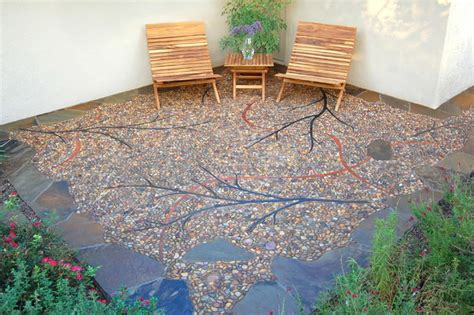 Riverside Pebble Patio Contemporary Patio other metro by Artistic Creations