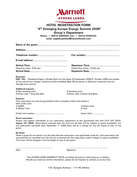 guest registration card template hotel registration form pdf listmachinepro