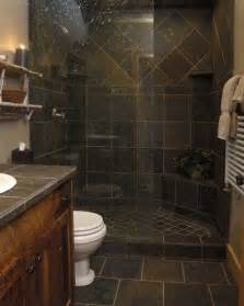 Slate Bathroom Ideas Gorgeous Slate Tile Shower For A Small Bathroom I Absolutely It I M Considering