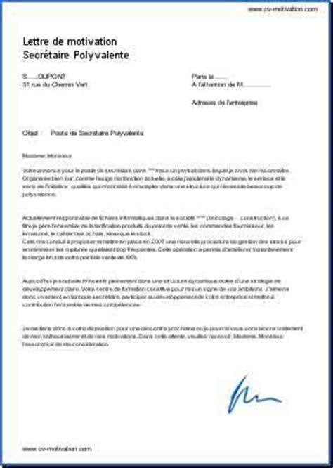 Exemple De Lettre De Motivation Ouvrier Polyvalent Application Letter Sle Modele De Lettre De Motivation Pour Emploi Polyvalent