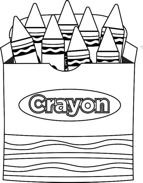 coloring crayons lets draw picture box crayons coloring pages best place
