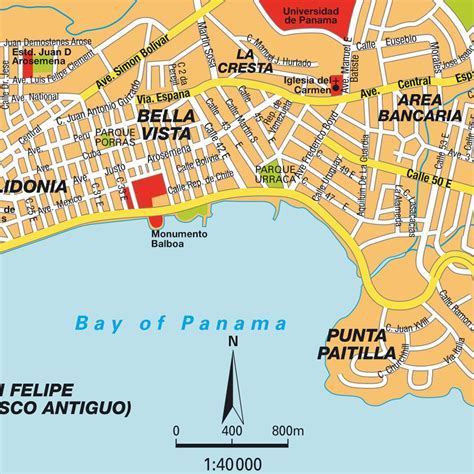 panama city map pin mapa panam 225 city on