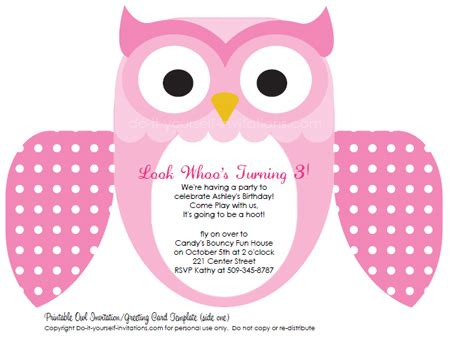 free party invitation templates unique owl invitations