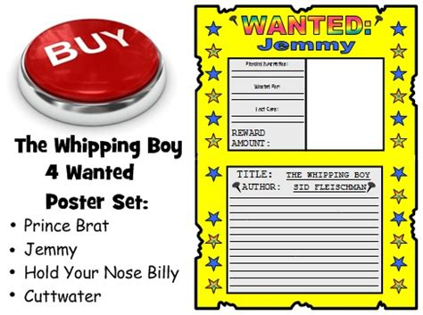 biography book report wanted poster whipping boy lesson plans author sid fleischman