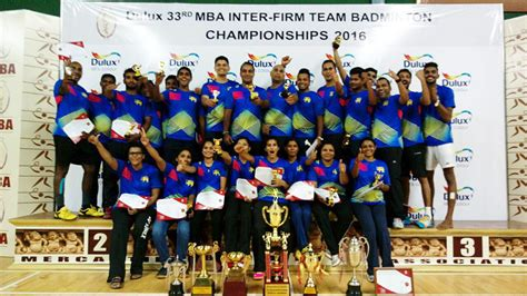 Mba Badminton Tournament by Mclarens Chions Of The 33rd Mba Inter Firm Team