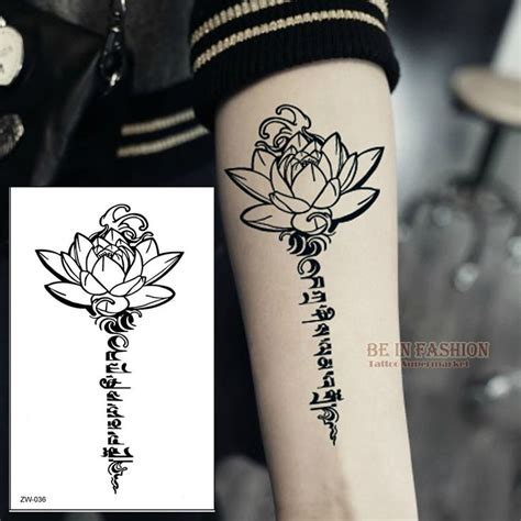 aliexpress com buy buddha lotus designs temporary tattoo