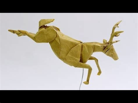 How To Make A Deer Out Of Paper - how to make an origami deer