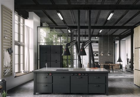 desain interior industrial desain interior dapur gaya industrial yang cantik dan artistik