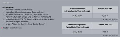 Audi Online Banking by Audi Bank Online Banking Konditionen Leistungen Audi