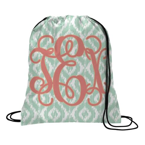 monogram drawstring backpack small personalized