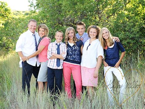 blue family color navy blue pink white family pictures