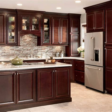cherry cabinets kitchen shop shenandoah bluemont 13 in x 14 5 in bordeaux cherry