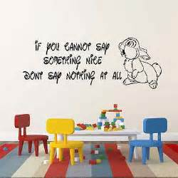 Disney Quote Wall Stickers Walt Disney Thumper Bambi Quote Wall Sticker Childrens