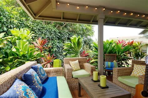 Tropical Patio Decor by Outdoor Living Tropical Porch Los Angeles By