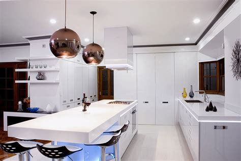 Contemporary Kitchen Lighting 17 Light Filled Modern Kitchens By Mal Corboy