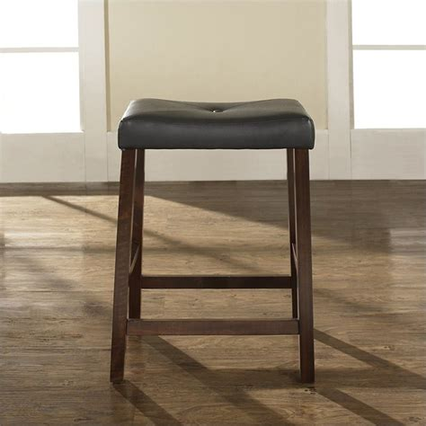 Padded Saddle Bar Stools by Counter Height Upholstered Saddle Seat Bar Stool In