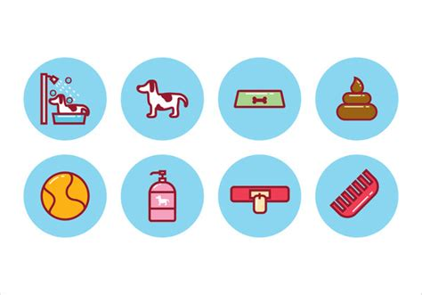 retro style pet icons set vector free download 141 pet icons free psd ai eps vector format download