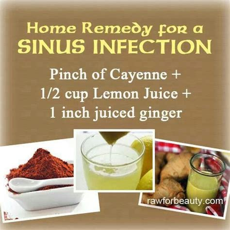 sinus infection remedy remedies