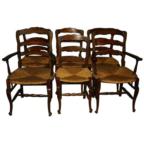 country ladder back dining chairs set of six 19th century country ladder back dining