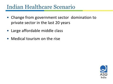Government For Mba Tourism by Improving Healthcare Quality In India