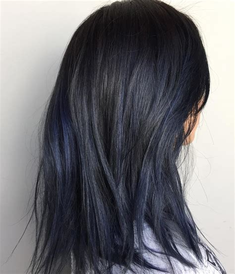 black hairstyles highlights blue black hair how to get it right