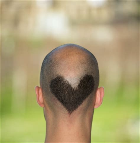 how to shave a heart heart design shaved on head