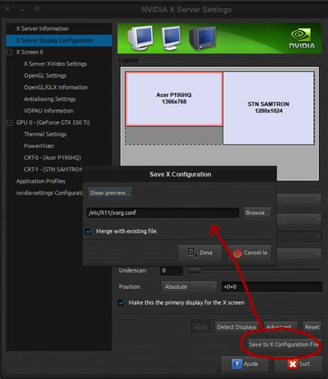 xorg conf 12 04 dual monitor nvidia xorg settings are reset after