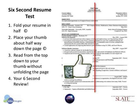 Resume 6 Second Rule by Dwd Application Workshop