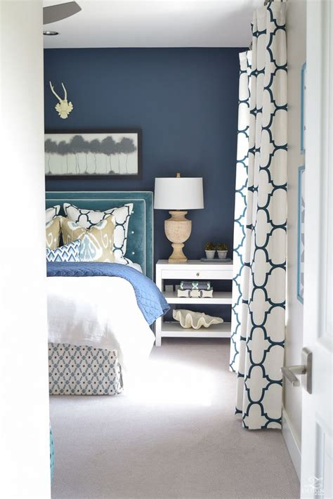 blue and white curtains for sale curtains bedroom interior with navy walls and closet