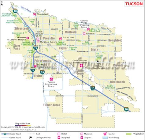 printable zip code map of tucson az buy tucson city map