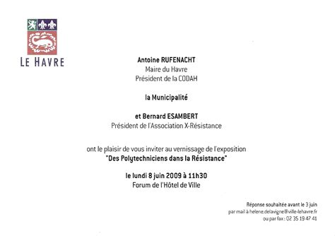 Exemple De Lettre D Invitation A Une Inauguration Modele Invitation Maire Inauguration Document