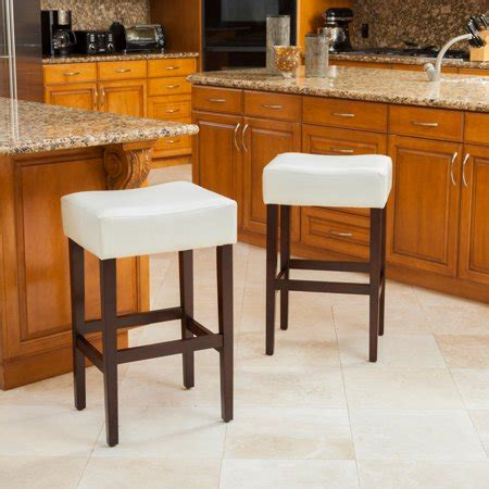 Set Of 3 Backless Bar Stools by Ivory Leather Backless Bar Stools Set Of 2