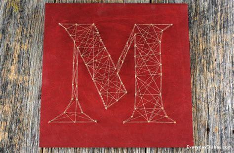 String Letter Patterns - decorative string letters