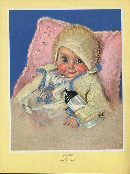 Baby Venice Highchair Blue deco s ephemera collectible illustrators