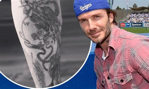 david beckham reveals new shin tattoo