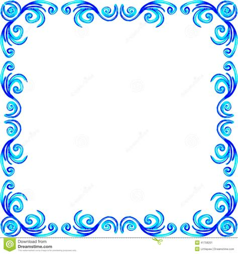 royalty free vector ornamental with 343155995 stock blue frame design frameswalls org