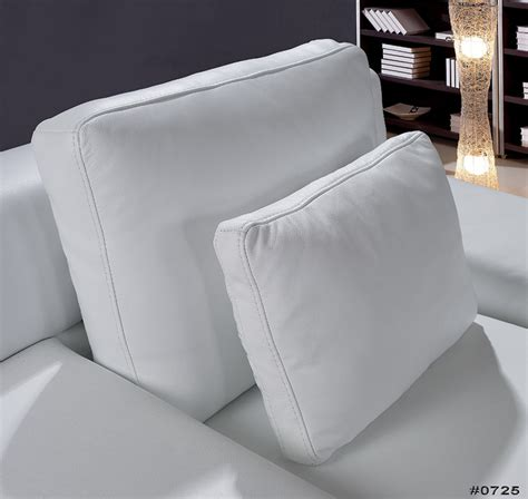 Modern White Leather Sofa Set Divani Casa Clef Modern White Leather Sofa Set