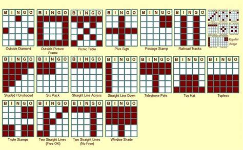 bingo pattern exles 4 best images of printable bingo patterns different