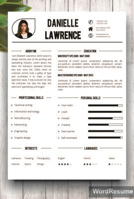 Buy Cv Template by Resume Templates