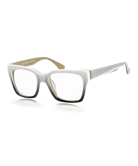 gray white florence eyeglasses