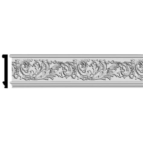 decorative moulding home depot fypon 1 in x 5 13 16 in x 96 in polyurethane scalloped