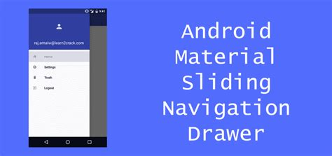 Android Sliding Drawer Tutorial by Android Material Design Sliding Navigation Drawer