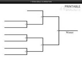 7 team single elimination bracket printable brackets