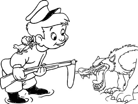 Peter And The Wolf Coloring Pages Qlyview Com And The Wolf Coloring Page3s