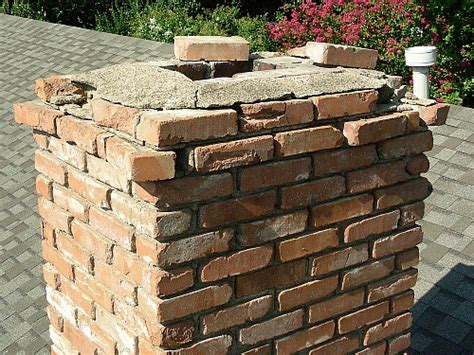 Chimney Mortar Cap Repair - brick chimney repair fireplace restoration brick doctor
