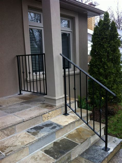 Exterior Banister by Wrought Iron Railings Outdoor Steps Weldon Welding Inspection Services Inc Exterior M L Page