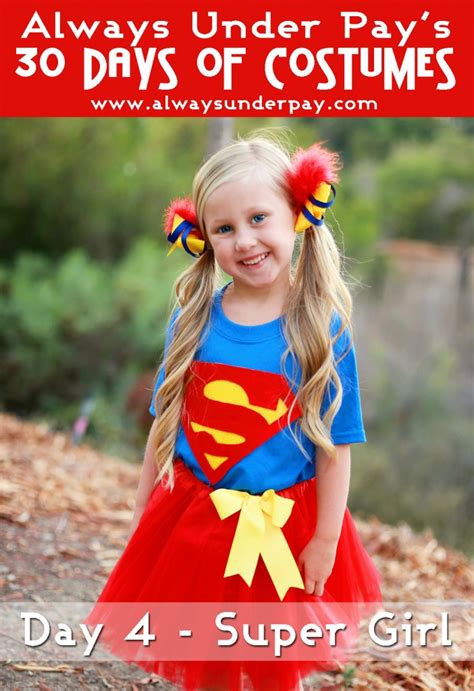 day  super girl inspired diy halloween costume
