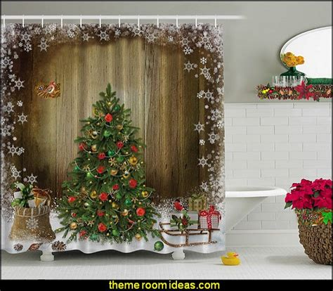 christmas themed shower curtains decorating theme bedrooms maries manor shower curtains