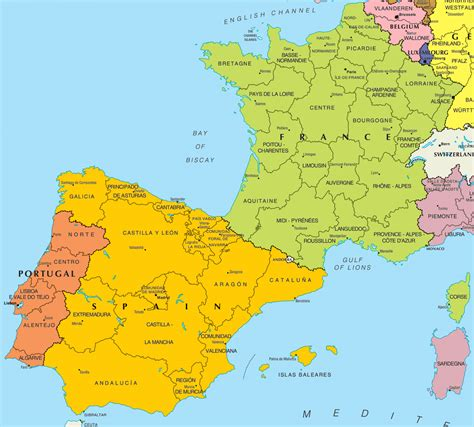 Carte portugal espagne L'odyssee des photos voyages